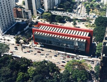 Aerial picture of museum of art in S&atildeo Paulo